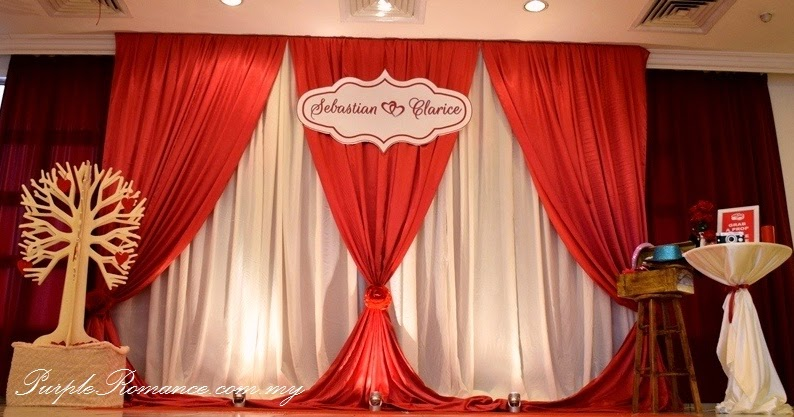 Wedding Decoration At Bukit Mewah Club Kajang Maroon