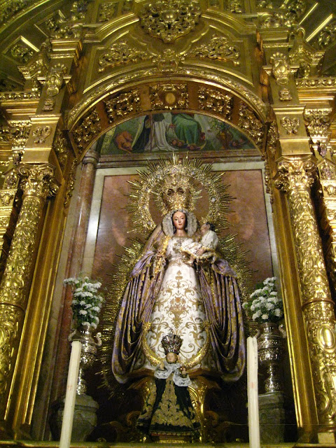 Virgin Mary in the Basilica de Macarena in Seville, Spain.