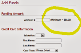 Admob Minimum Advertising Payment Amount.