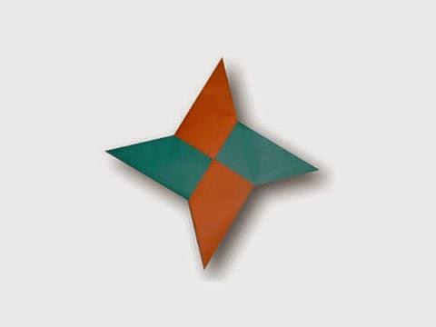 Hướng dẫn cách gấp phi tiêu ninja bằng giấy đơn giản - Xếp hình Origami với Video clip - How to make a ninja star