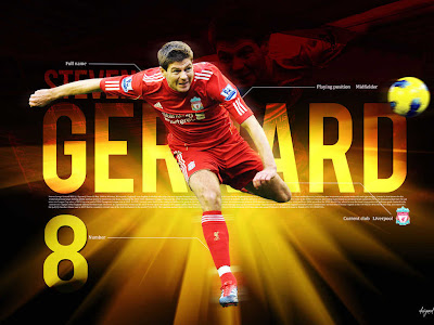 Steven Gerrard The Caps Of Liverpool Wallpaper