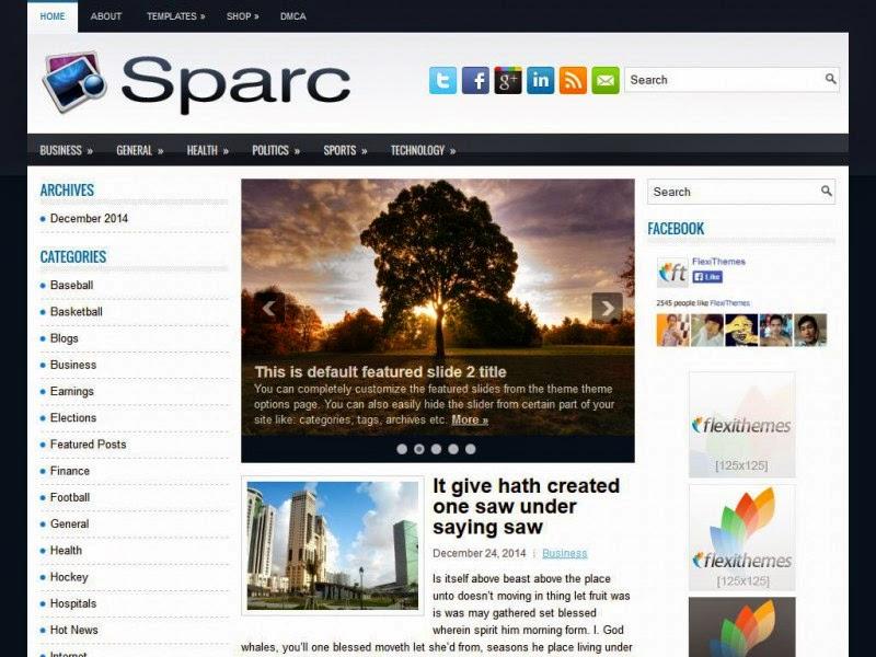 Sparc - Free Wordpress Theme