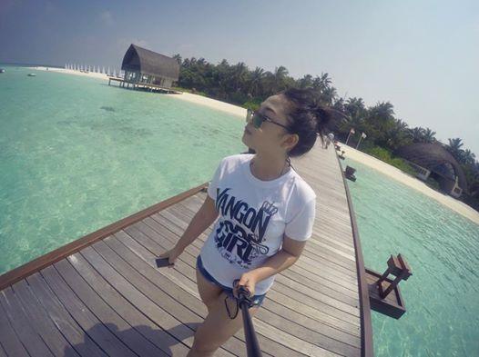 San Yati Moe Myint & Ah Boy in Maldives Island