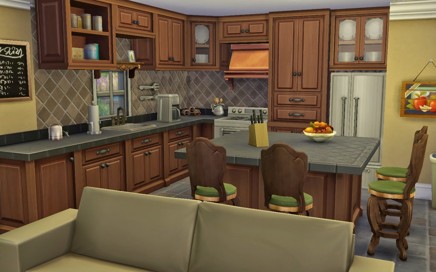 Large victorian kitchens home design idea for Sims 3 kitchen designs