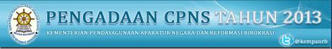 Pengumuman Penerimaan CPNS 2013 Kementerian PAN-RB