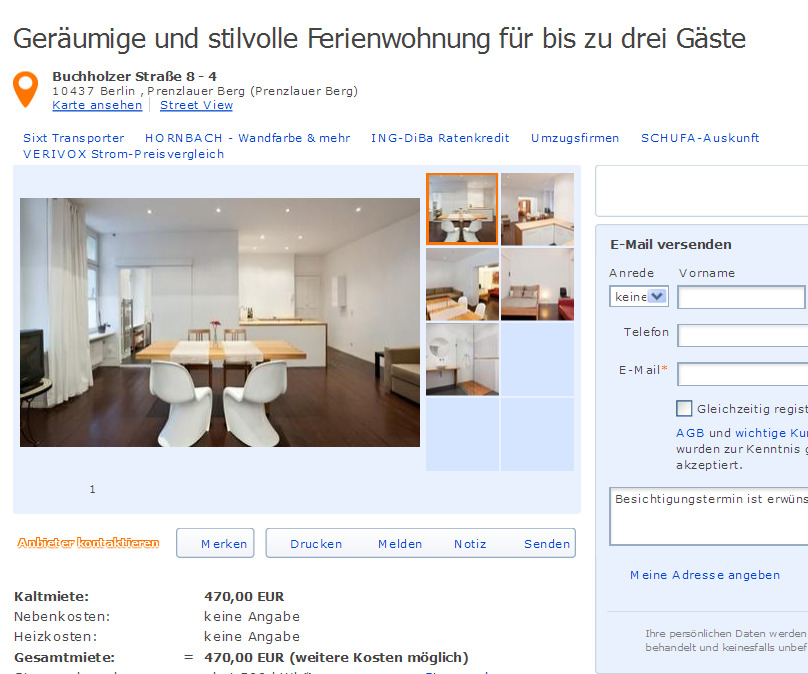 gem tliche wohnung f r 4 personen in augsburg gegen wohnungsbetrug against rental scammers. Black Bedroom Furniture Sets. Home Design Ideas
