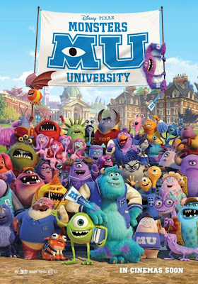 Monsters University 2013 film large movie poster