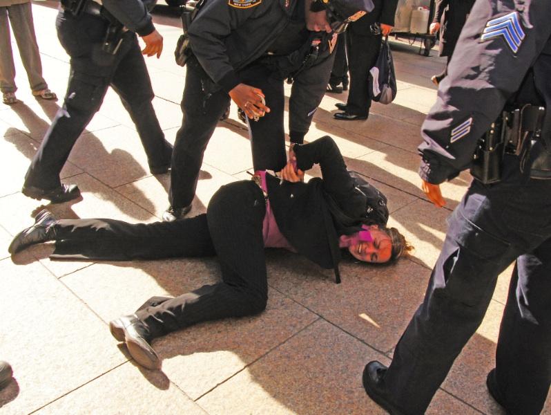 Rae Abileah 3/8/12 arrest IWD