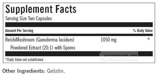 thành phần Thực phẩm chức năng ReishiMax GLp Nuskin