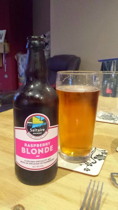 Raspberry blonde beer