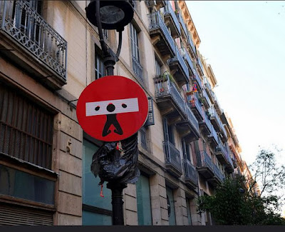clet abraham street art bdsm traffic sign yoke
