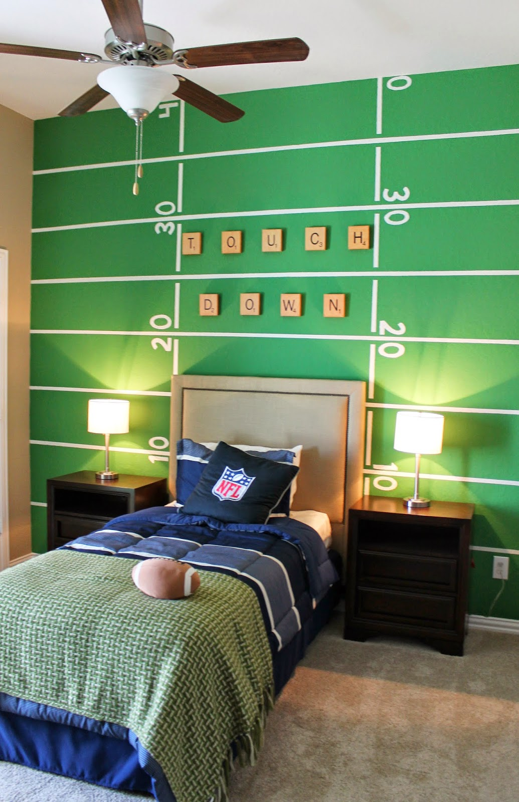 you this fun football themed room it is so easy to pull together