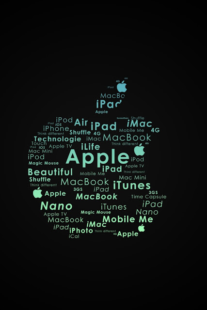 Apple Logo Typography iPhone Wallpaper By TipTechNews.com