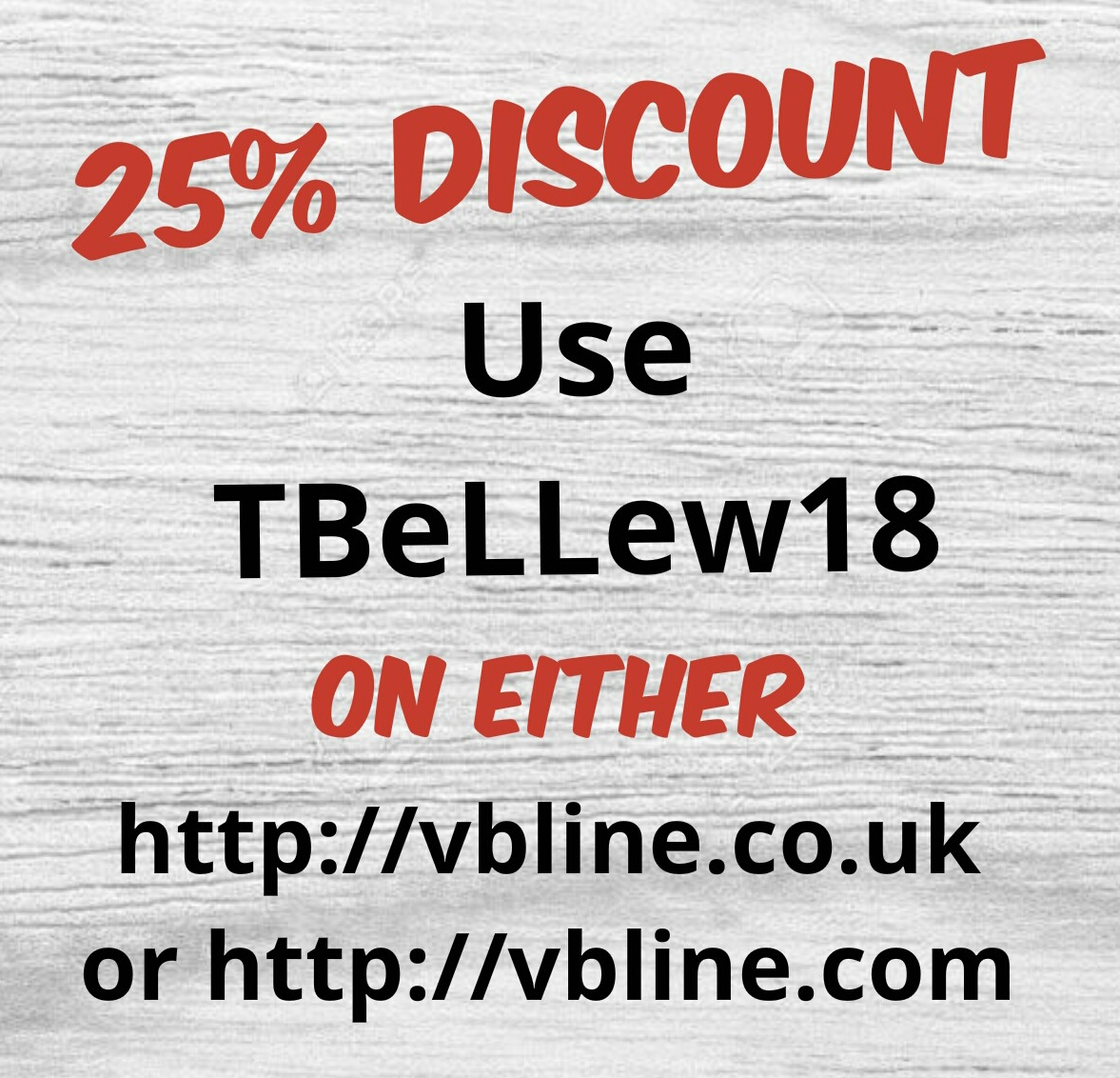 VB Line 25% discount