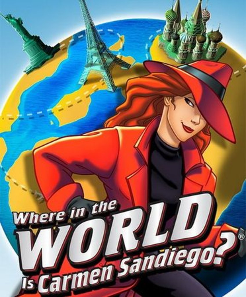 Carmen SanDiego Where+on+earth+carmen+sandiego+en+busca+de+carmen+sandiego+dibujos+animados+infancia+poster