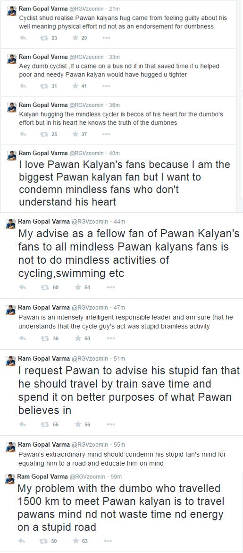 Ram Gopal Varma and Pawankalyan tweets