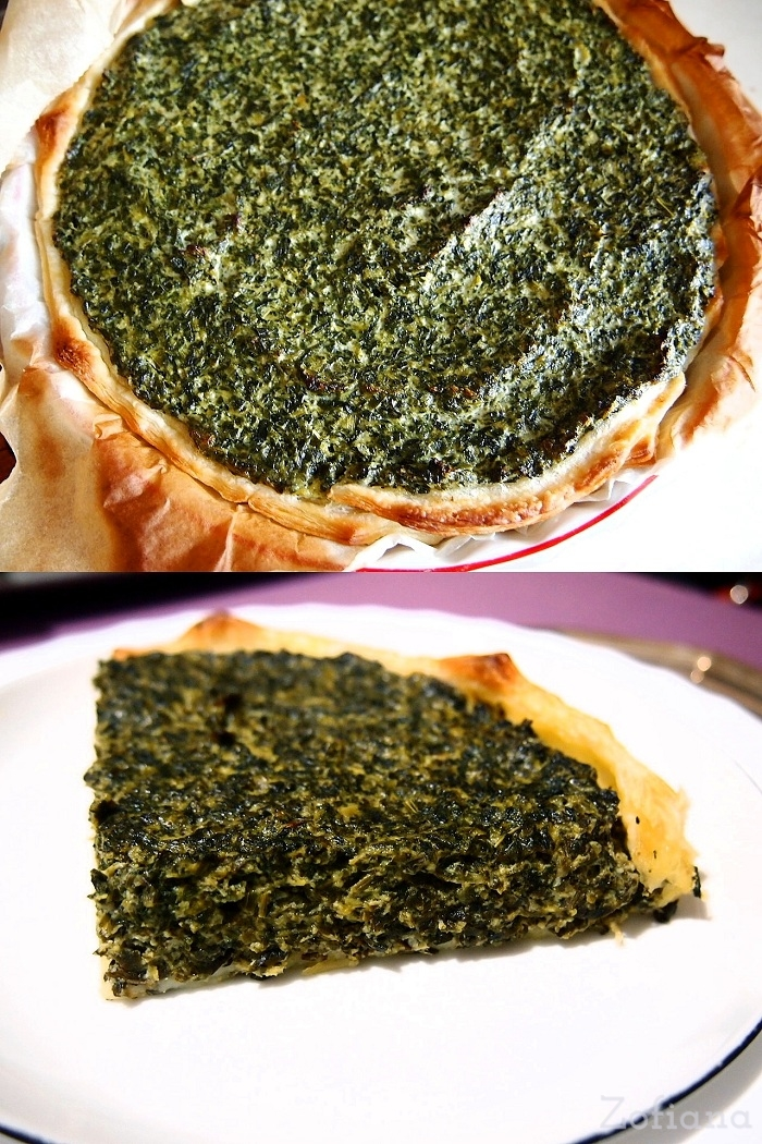 spinach and cottage cheese tart