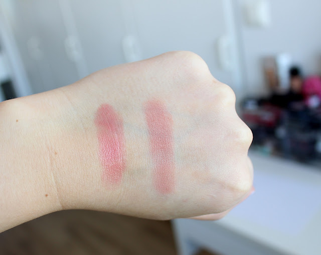 MAC lipstick review, MAC blusher review, MAC Huggable Lip Colour Im In swatches, MAC Blush All Day review and swatches, MAC swatches, beauty reviews, make up reviews