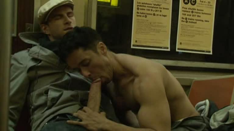 Blowjob on the subway