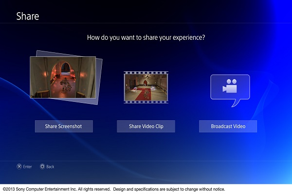 interface social do video game Playstation 4