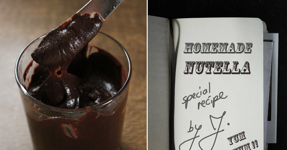 Homemade Nutella. Selbstgemachte Nutella.