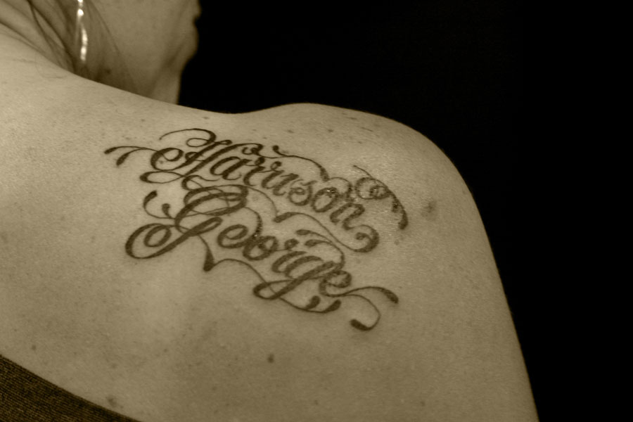 tattoo letters on chest. However, you have to choose the tattoo lettering style very carefully.