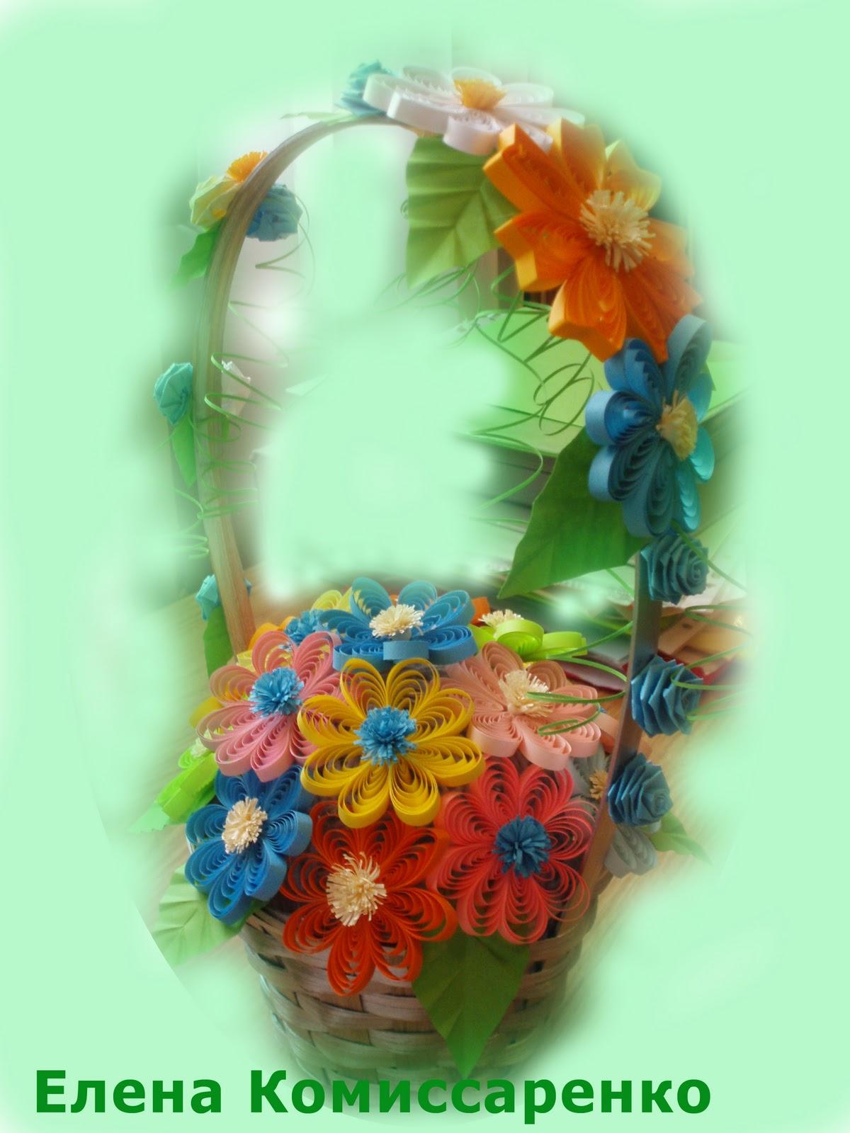 Делаем корзинку с цветами