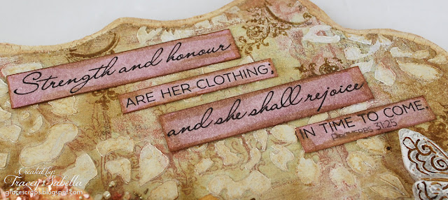 Scripture MIxed Media Art by Tracey Sabella for Scraps of Elegance, Word Art Wednesday Scripture