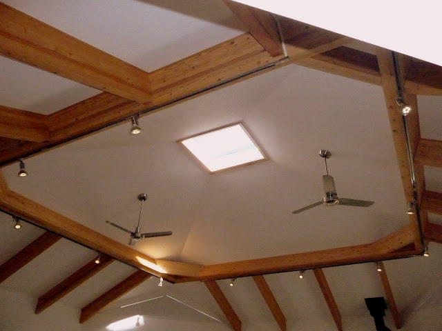above is the willett solargon with drywall track lighting and fans