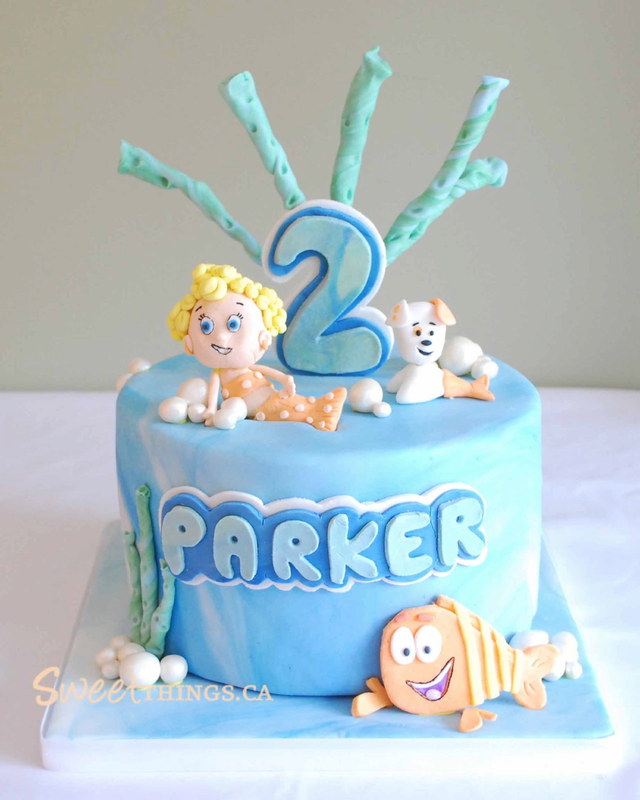 Sweetthings 2nd Birthday Cake Bubble Guppies Cake