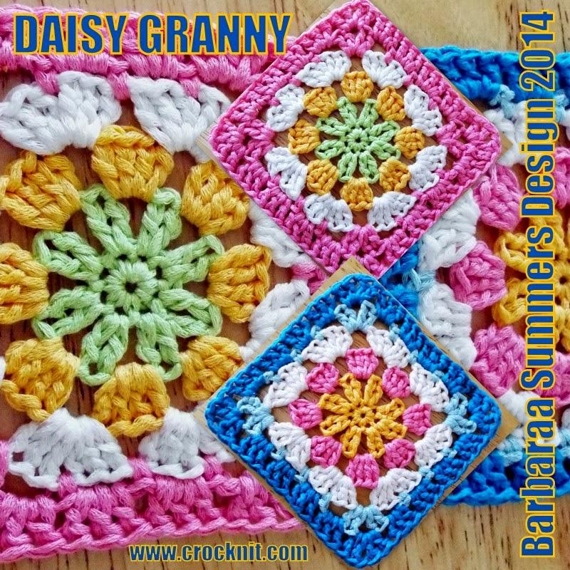 MICROCKNIT CREATIONS: DAISY GRANNY Square Crochet FREE Pattern