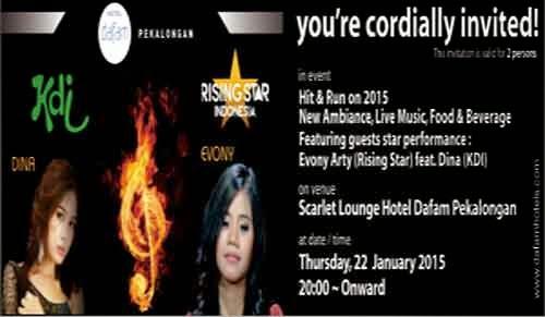 Evony Arty Rising Star Dan Dina KDI Tampil Di Scarlet Lounge Hotel Dafam