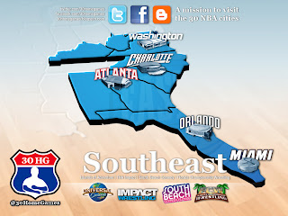 southeast division, nba map, universal studios, florida, wrestling