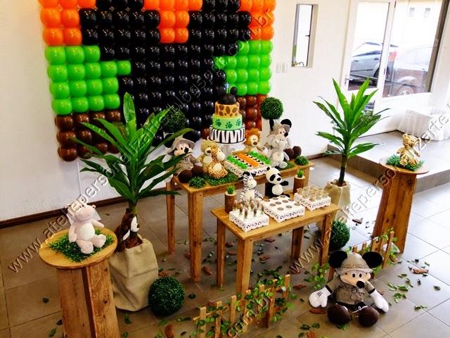 decoracao de festa infantil Mickey Safari em Porto Alegre