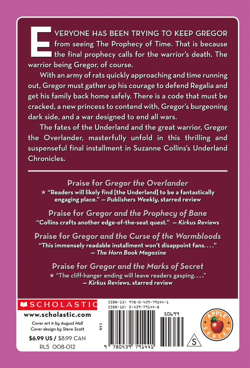 Gregor And The Code Of Claw Scholastic Isbn 9780439791441