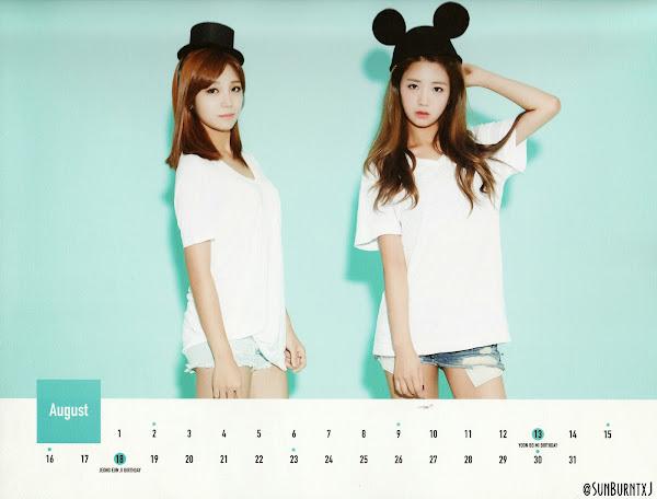 Apink calendar 2015 scans Eunji, Bomi
