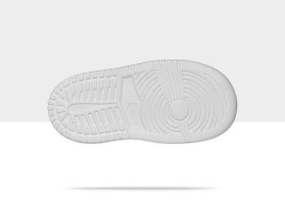 Air Jordan 1 Mid Flex (2c-10c) Toddler Girls' Shoe White/White-Cool Grey, Style - Color # 554727-100