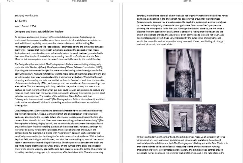 contextual studies essays