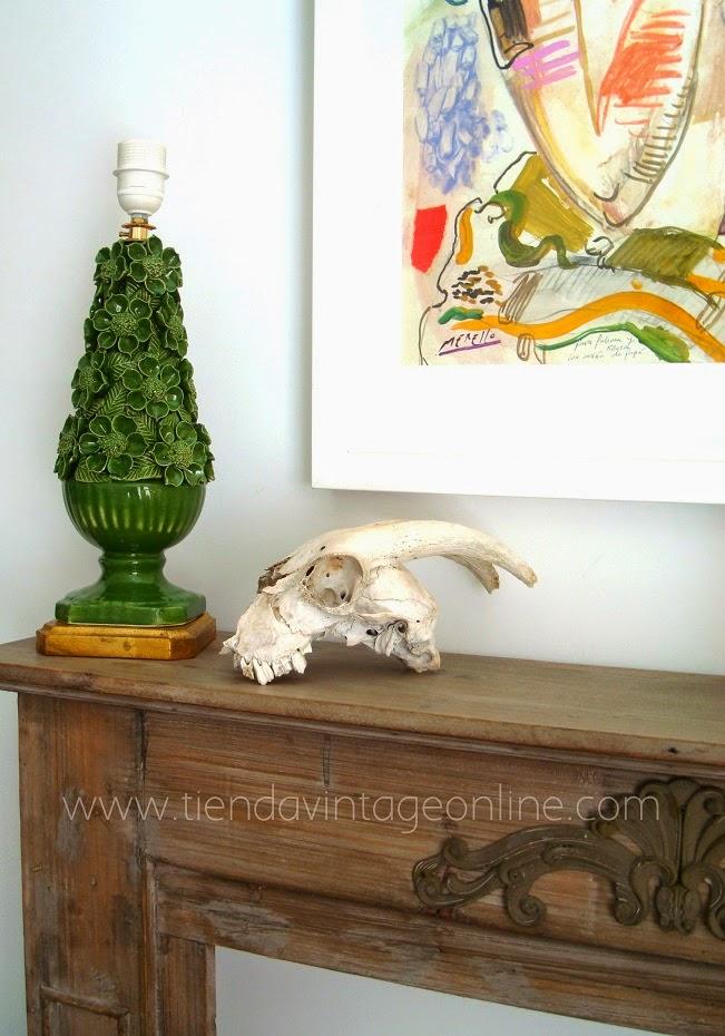 Lámparas vintage de mesa de revista de decoración. Lámparas vintage en valencia