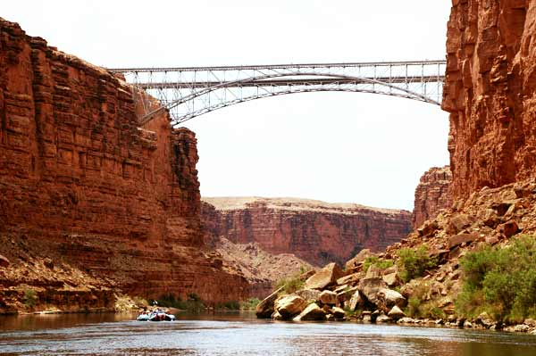 HWY 89A Grand Canyon Navajo Bridges over Colorado River