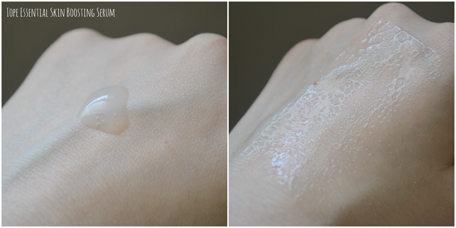 serum swatches: light and watery texture