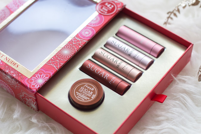fresh sugar lip treatment sweet nudes gift set review