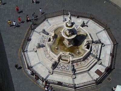 fontana di Orione a Messina dal campanile Orione fountain
