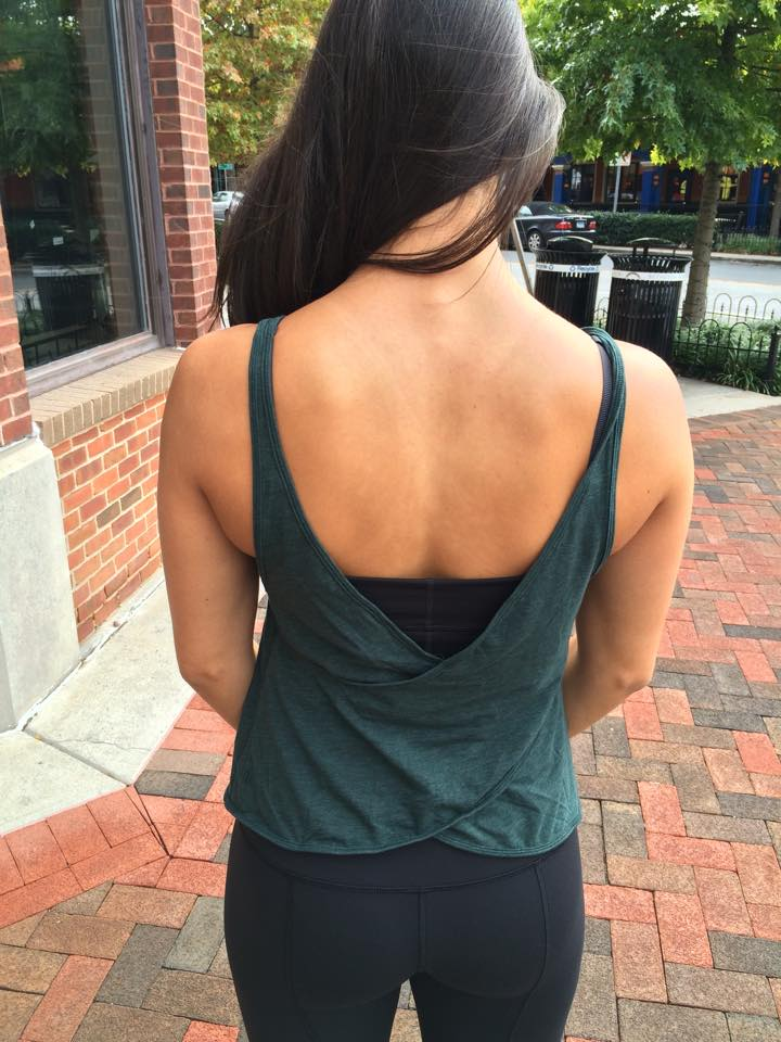 lululemon twist n turn tank fuel green