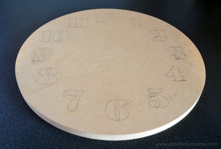 DIY Ombre Wood Clock at artsyfartsymama.com #MyBrilliantIdea #CleverGirls