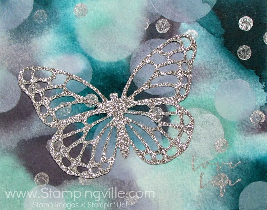 Bokeh technique background + SU Butterflies Thinlits Dies #cardmaking #papercrafts #StampinUp