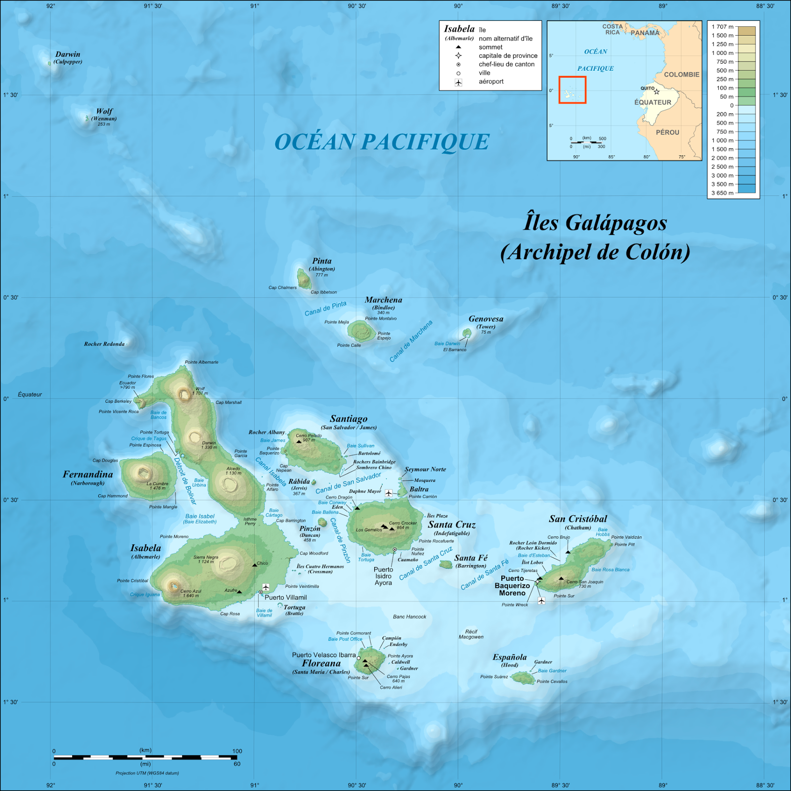 an image of the galapagos islands and their topography image from wikimedia commons