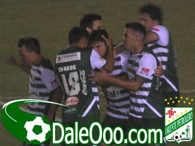 Oriente Petrolero - Festejo del gol de Ronald Raldes - DaleOoo.com sitio del Club Oriente Petrolero