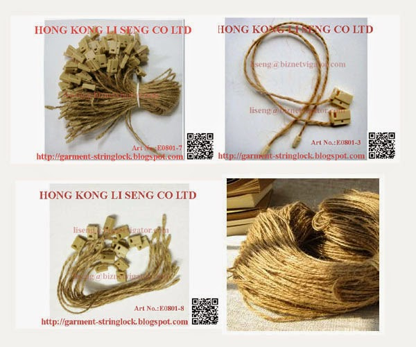 Hemp Rope Hang Tag String Lock Pin For All Clothes Supplier