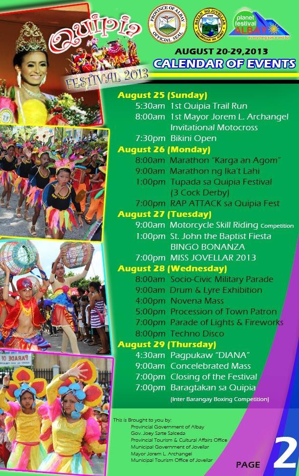 Quipia Festival 2013 Events